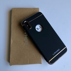 Other - iPhone X case black and gold